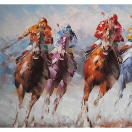 Konie, wyścig (50x60cm)