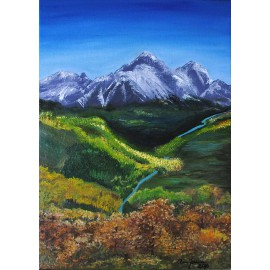 Obraz z Tatrami (40x60cm)