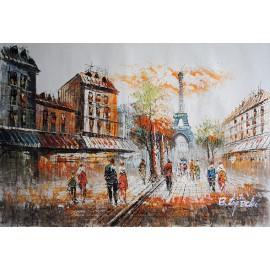 Uliczka, Paryż (60x90cm)