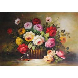 Kwiaty, bukiet (60x90cm)