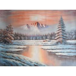 Pejzaż zimowy (90x120cm)