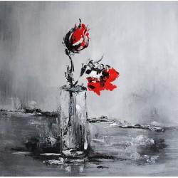 Kwiaty, róże (80x80cm)