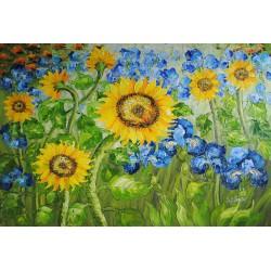 Słoneczniki (60x90cm)