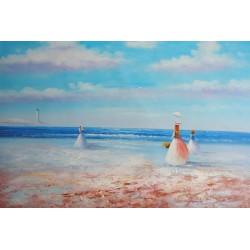 Dzieci na plaży (60x90cm)