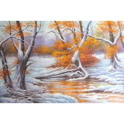 Zima, pejzaż (50x70cm)