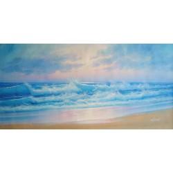 Plaża, morskie fale (60x120cm)