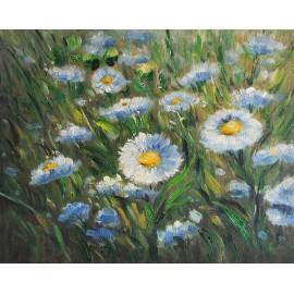 Łąka, kwiaty (30x40cm)
