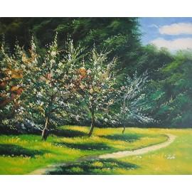 Kwitnące jabłonie (50x60cm)