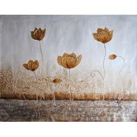 Abstrakcja, kwiaty (90x120cm)