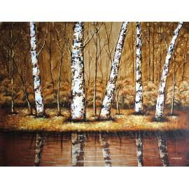 Abstrakcja, pejzaż (90x120cm)