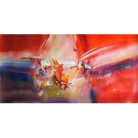 Abstrakcja, panorama (60x120cm)