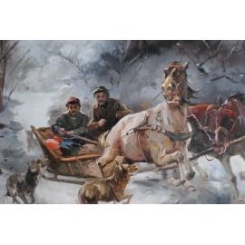 Napad wilków (50x60cm)