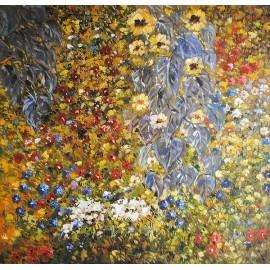 Klimt, łąka (60x60cm)