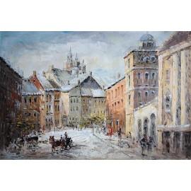 Warszawska uliczka (60x90cm)