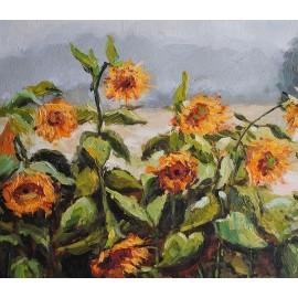 Słoneczniki na łące (50x60cm)
