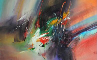 piękne abstrakcje olejne