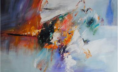 ręcznie malowane abstrakcje